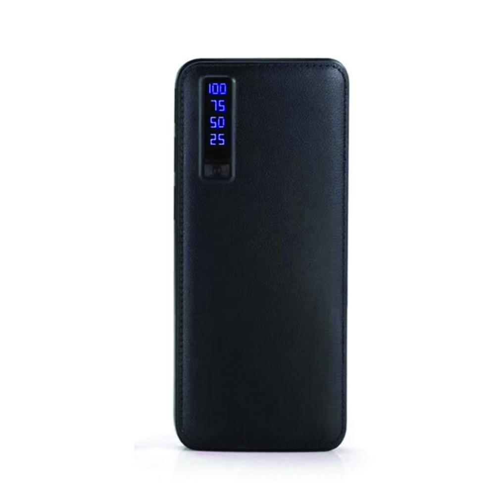 Baterie externa cu incarcare rapida si LED, GMO, Power Box, 30.000 mAh, neagra